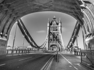 Through Tower Bridge by Assaf Frank