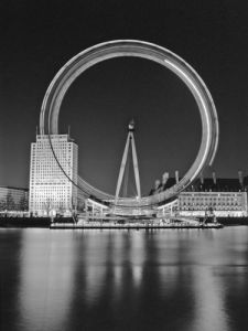 London Eye at Night by Assaf Frank