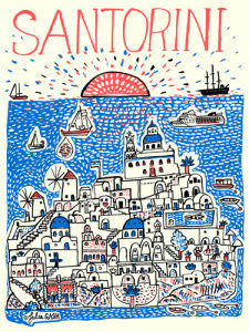 Santorini by Julia Gash