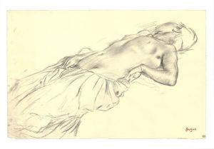 Lying Nude by Edgar Degas