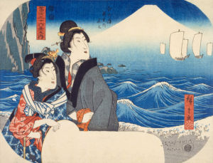Mount Fuji at dawn by Utagawa Hiroshige
