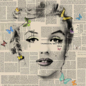 Marilyn - Butterflies 4 by VeeBee