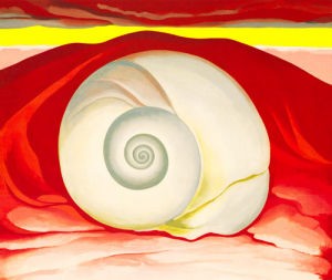 Red Hill and White Shell, 1938 by Georgia O'Keeffe