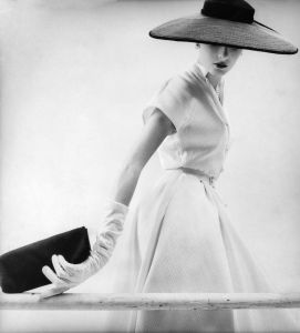 Vogue April 1954 by John Sadovy