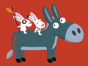 Little Donkey by Nathalie Choux