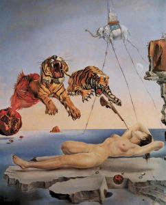 Dream Caused by a Bee Flight by Salvador Dali