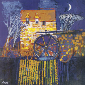 Mill and Moon,Orkney by George Birrell