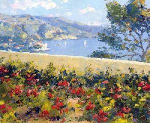 Geraniums at Villefranche by Pierre Bittar