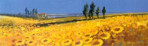 Yellow Fields, Tuscany by John Horsewell