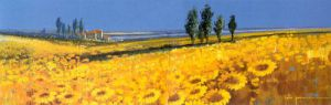 Yellow Fields, Tuscany by John Horsewell