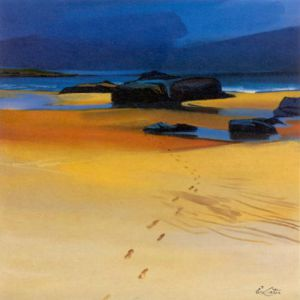 Footsteps and Orange Sands by Pam Carter