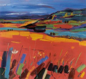 Fields near Fintry by Judith I. Bridgland
