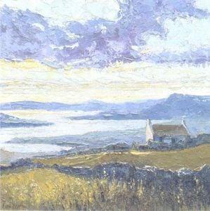 Connemara, Lone Cottage at Renvyle by Alan Cotton