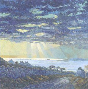 Connemara, Dramatic Sky at Dawn by Alan Cotton