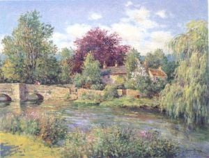 Bridge at Ashford in the Water, Derbyshire by Jean Kevorkian
