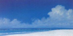 Clouds over Sandpiper Beach by Derek Hare