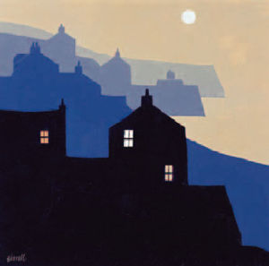 Headlands and Moon by George Birrell