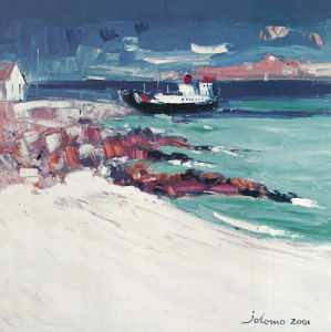 Three O'clock Ferry, Iona by John Lowrie Morrison