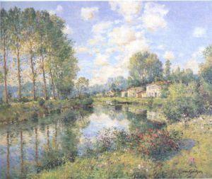 Poplars in Poitevin Marsh by Jean Kevorkian