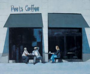 Coffee Break - Montana Avenue by Peter Nardini