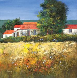 Hayfield in the Dordogne by Davy Brown