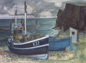 East coast fishing boats by Joseph Maxwell