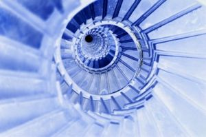 Blue Spiral Staircase by Richard Osbourne