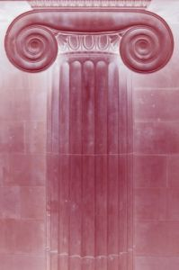 Red Classical Column by Richard Osbourne