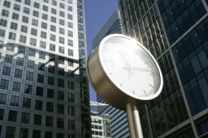 Canary Wharf Clock by Richard Osbourne