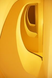 Yellow Spiral Staircase by Richard Osbourne