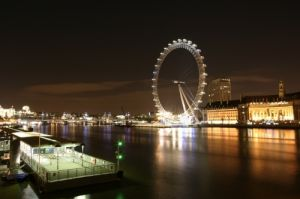 London Eye at Night by Richard Osbourne