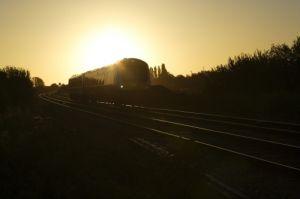 Sunset Train by Richard Osbourne