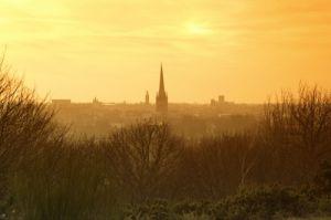 Winter Sunset Over Norwich by Richard Osbourne