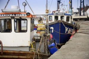 Fishing Boats Wells Next The Sea by Richard Osbourne