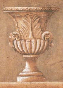 Ram's Motif Urn by Jacques Lamy
