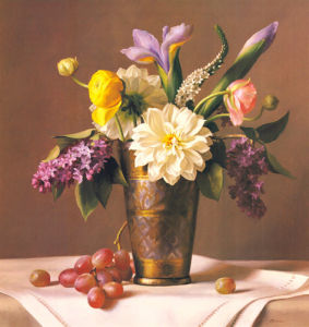 Flowers in an Indian Vase by Ken Marlow