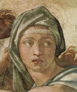 Portrait: Delphic Sibyl by Michelangelo