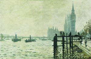 Thames Below Westminster by Claude Monet