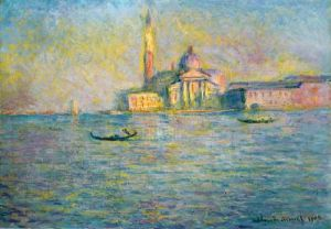 The Church Of St Georgio Maggiore by Claude Monet