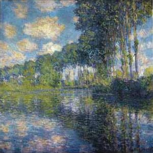 Poplars on the Epte by Claude Monet