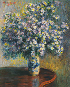 Asters 1880 by Claude Monet