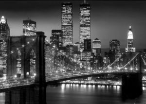 New York - Brooklyn Bridge Night by Anonymous