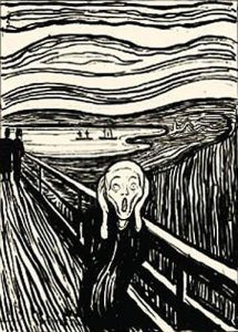 The Scream (Silkscreen print) by Edvard Munch