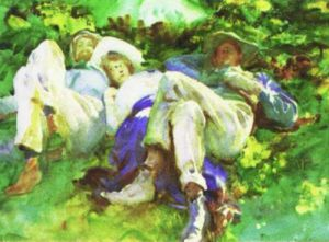 The Siesta by John Singer Sargent