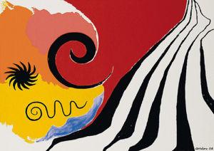Pinwheel and flow, 1958 (Silkscreen print) by Alexander Calder