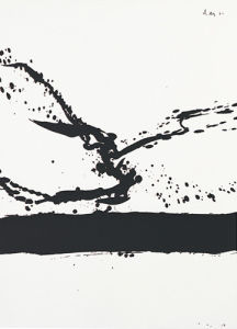 Beside the sea No.24, 1962 (Silkscreen print) by Robert Motherwell