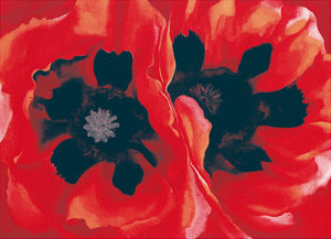 Oriental Poppies, 1928 (Silkscreen print) by Georgia O'Keeffe