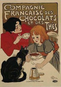 Compagnie Francaise des Chocolat by Theophile-Alexandre Steinlen