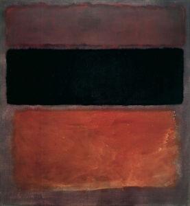 No. 10, brown, black, sienna on dark wine, 1963 by Mark Rothko