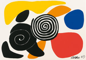 Spirals and Petals, 1969 (Silkscreen print) by Alexander Calder